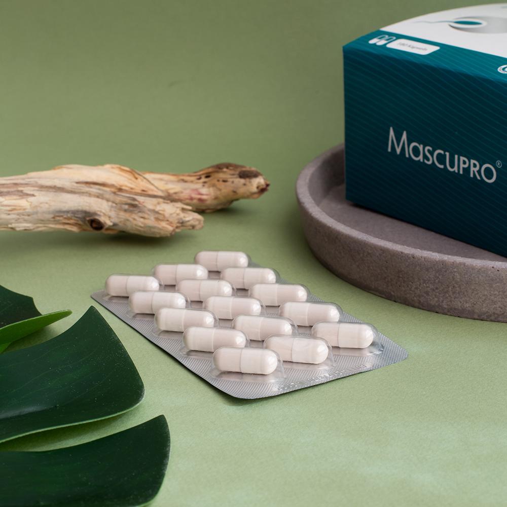 MascuPRO Fertilität, 180 Kapseln, ausgepackte Kapseln