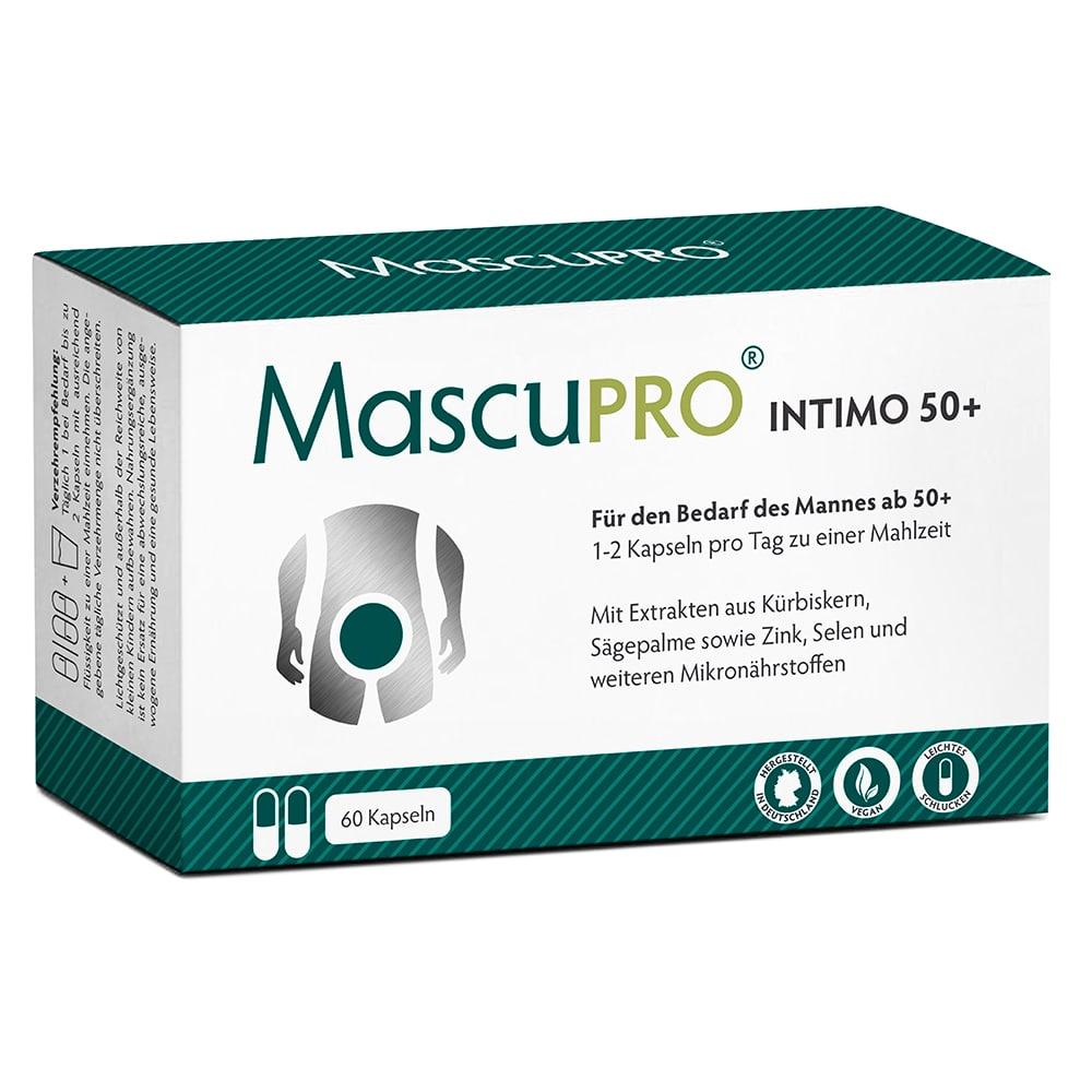 MascuPRO Intimo50+, 60 Kapseln, Frontseite