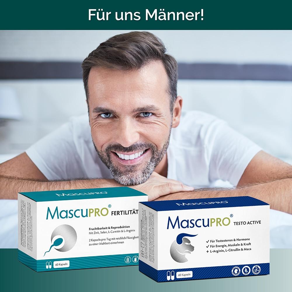 MascuPRO Fertiliät und MascuPRO Testo Active