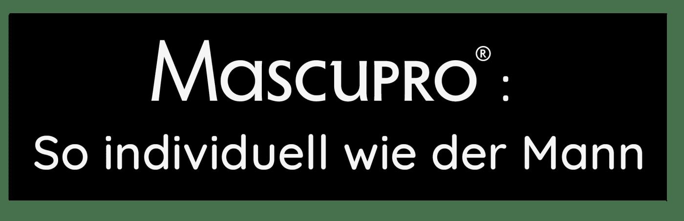 Logo mit Slogan von MascuPRO